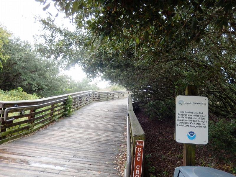 First Landing State Park Boardwalk-funding image. Click for full size.