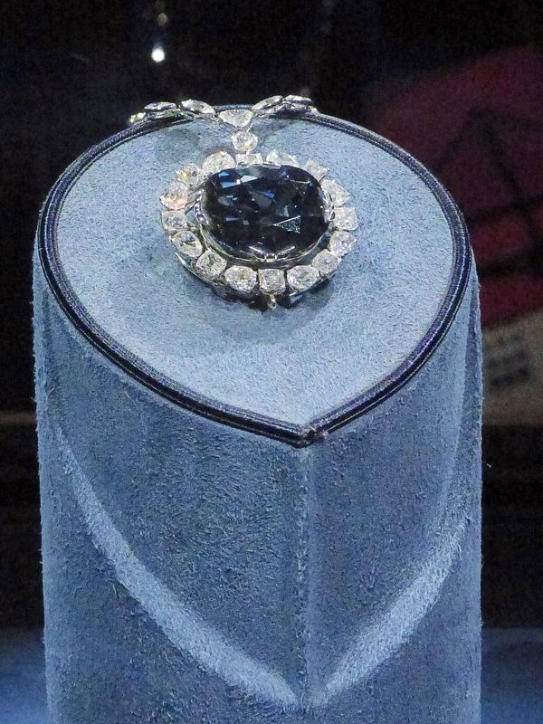 The Hope Diamond<br>45.52 carats<br>India image. Click for full size.