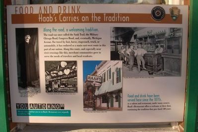 Food and Drink Haab's Carries on the Tradition Marker image. Click for full size.