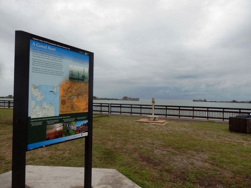 A Good Start Marker-The Chesapeake Bay in the background image. Click for full size.