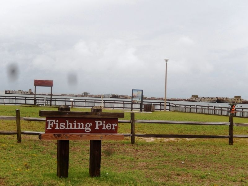 Fishing Pier sign-A Good Start Marker is in the far background image. Click for full size.