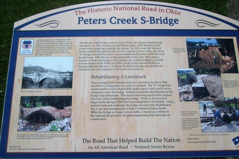 Peters Creek S-Bridge Marker image. Click for full size.