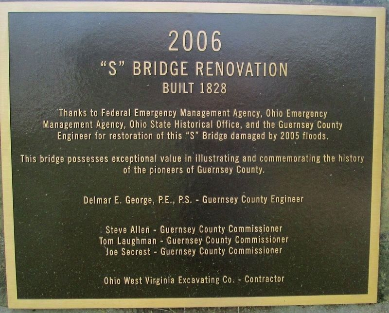 S Bridge Renovation Marker image. Click for full size.