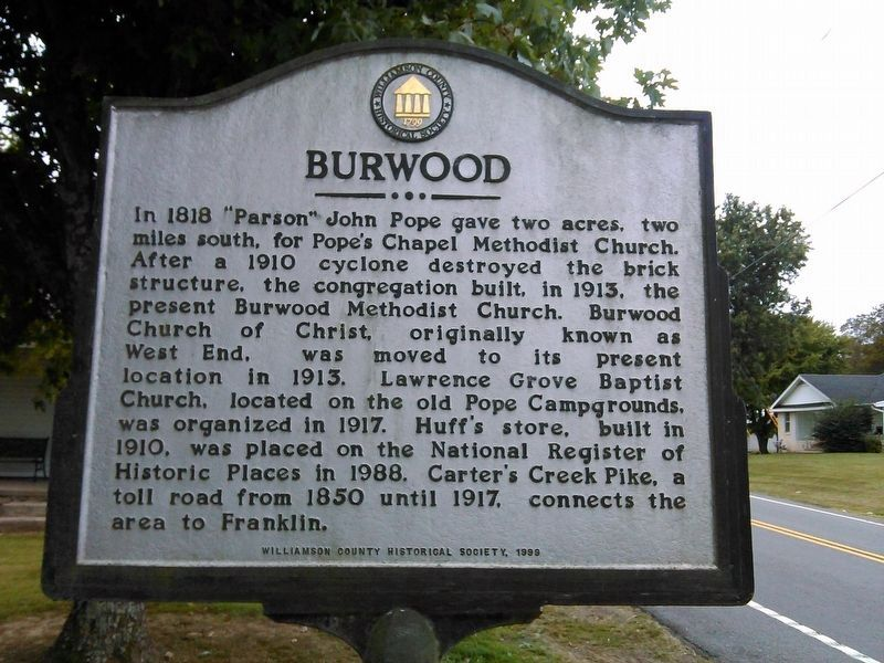 Burwood Marker image. Click for full size.