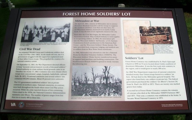 Forest Home Soldiers' Lot Marker image. Click for full size.