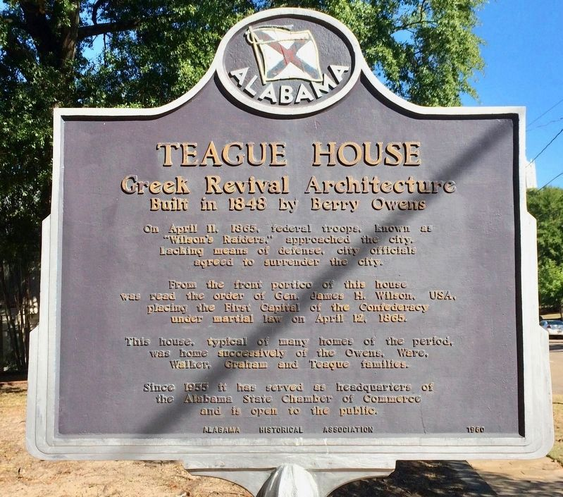 Teague House Marker image. Click for full size.