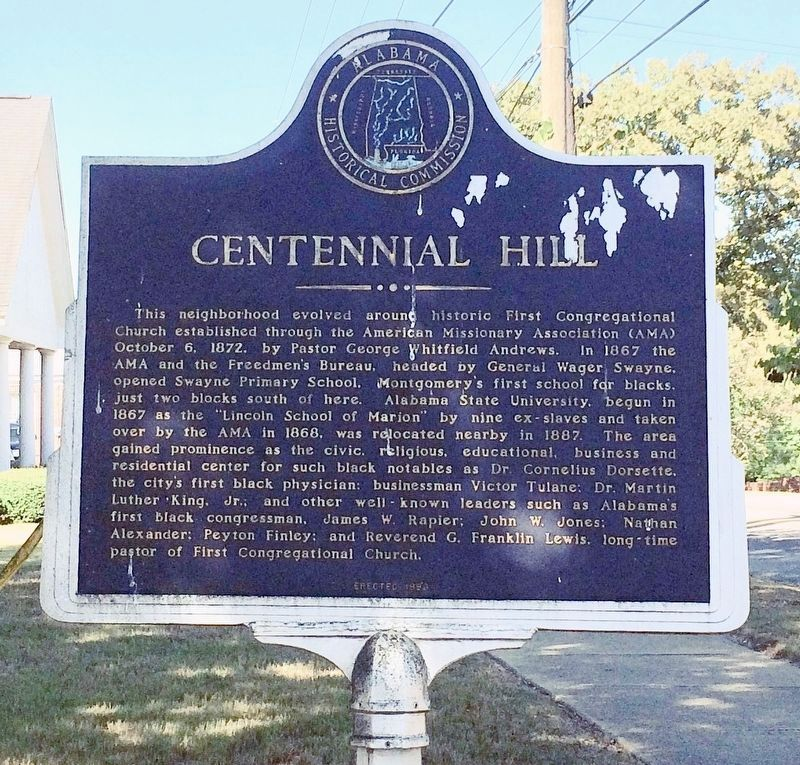 Centennial Hill Marker image. Click for full size.