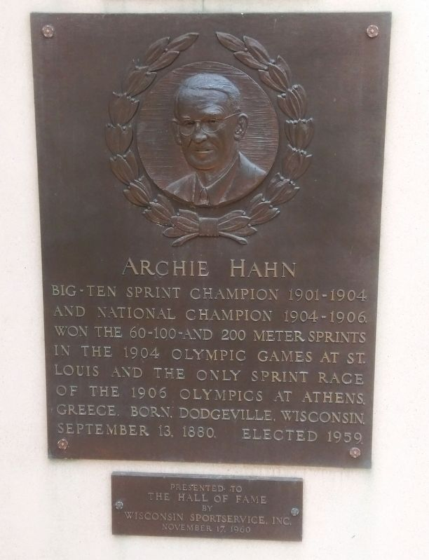 Archie Hahn Marker image. Click for full size.