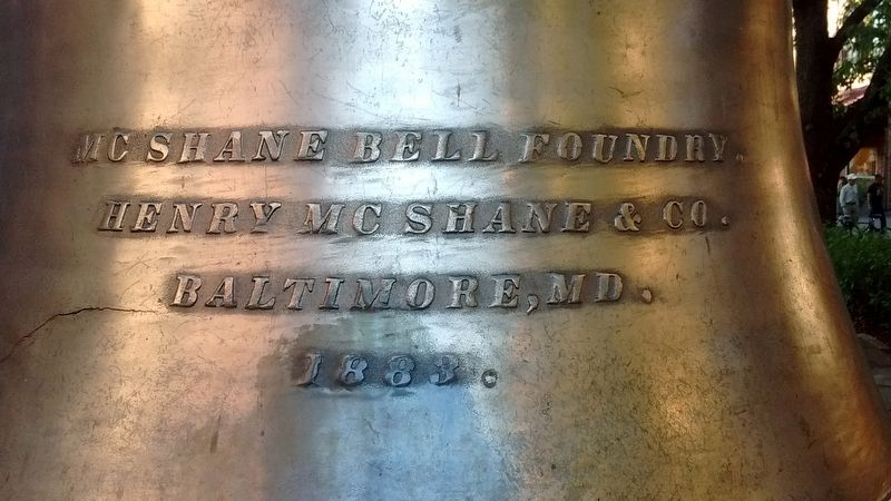 Market House Bell Inscription image. Click for full size.