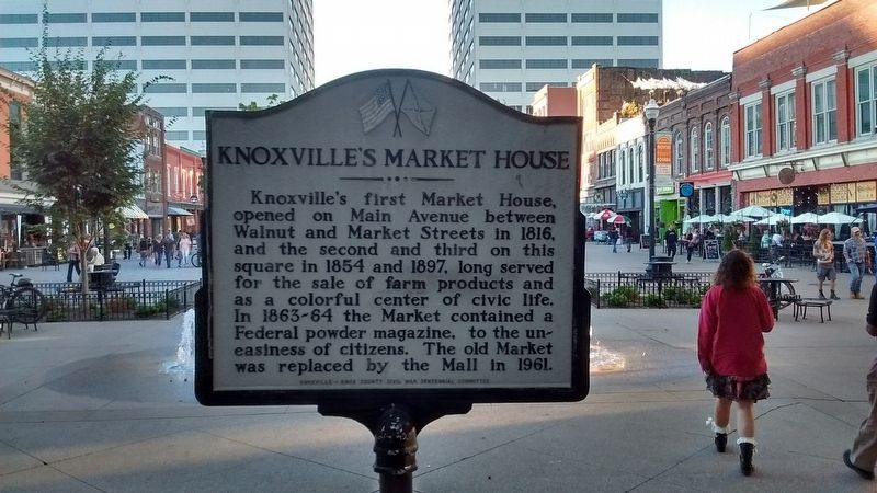 Knoxville's Market House Marker image. Click for full size.