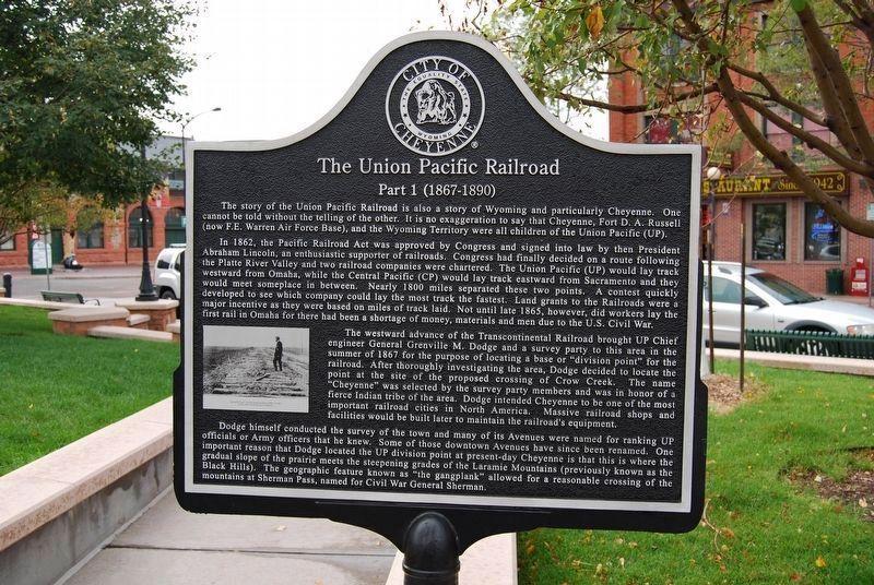 The Union Pacific Railroad Historical Marker