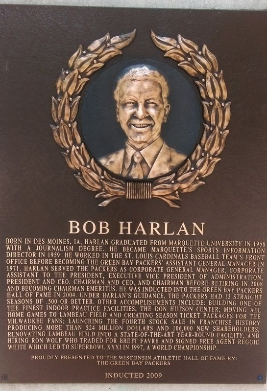 Bob Harlan Marker image. Click for full size.