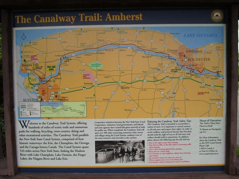 The Canalway Trail: Amherst image. Click for full size.