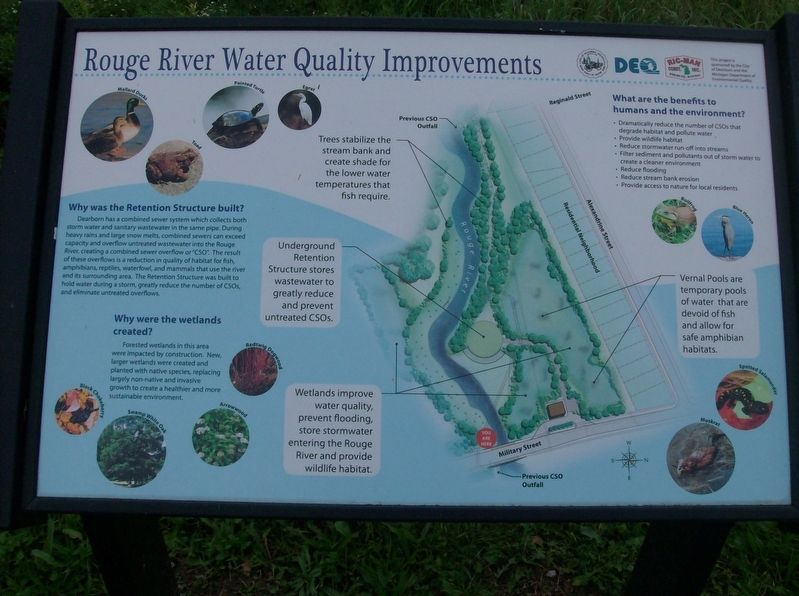 Rouge River Water Quality Improvements Marker image. Click for full size.