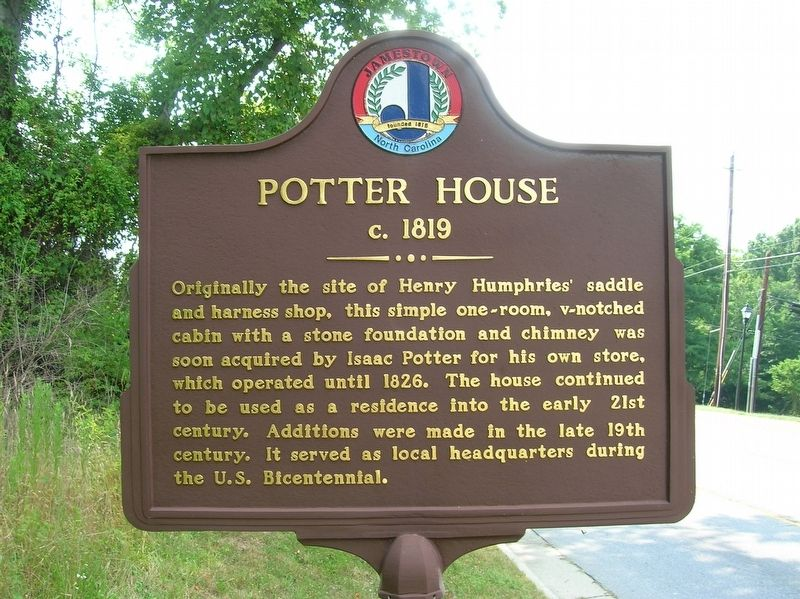 Potter House Marker image. Click for full size.