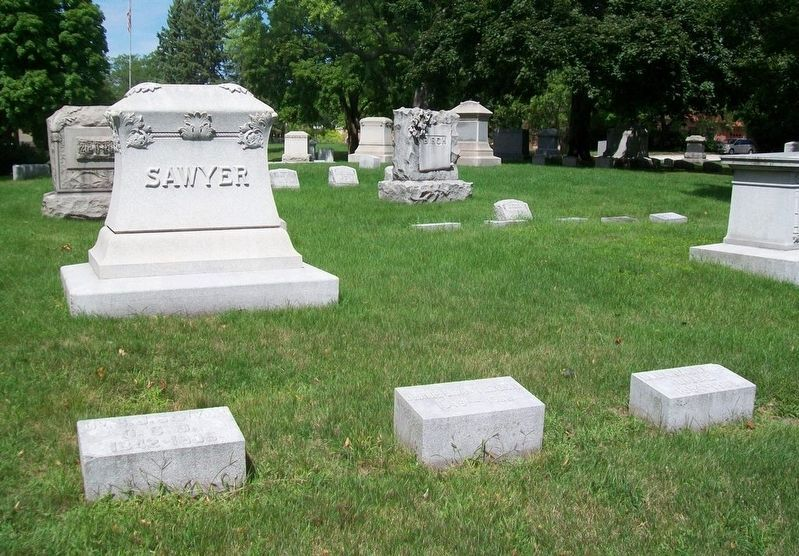 Dr. Silas J. Sawyer and Jennie E. Sawyer Monument image. Click for full size.