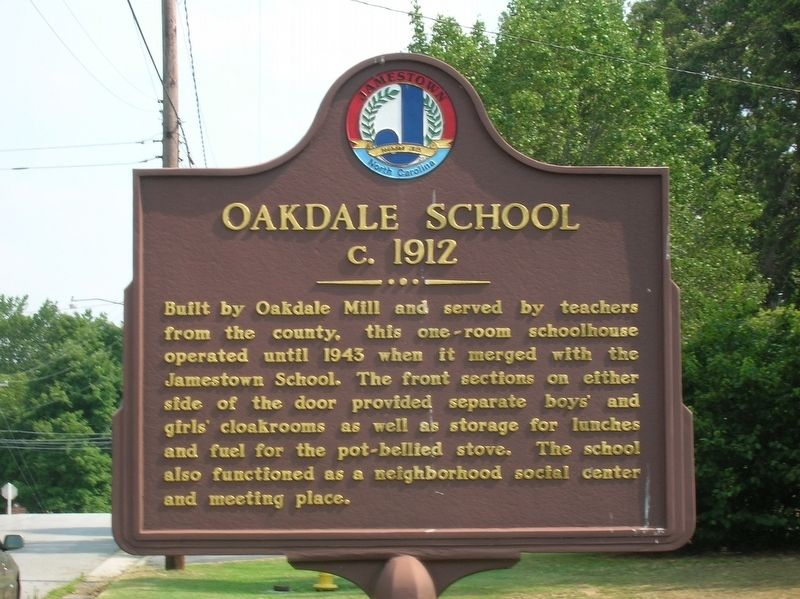 Oakdale School Marker image. Click for full size.