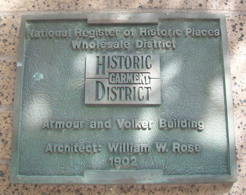 Armour & Volker Building Marker image. Click for full size.