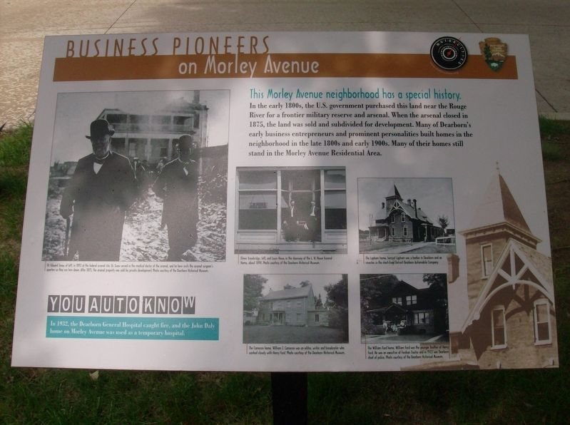 Business Pioneers on Morley Avenue Marker image. Click for full size.