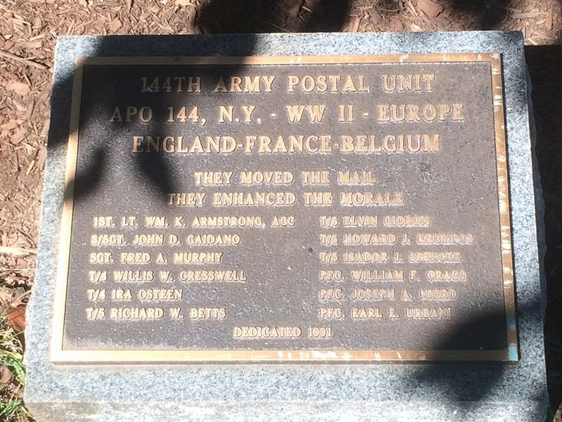 144th Army Postal Unit Marker image. Click for full size.