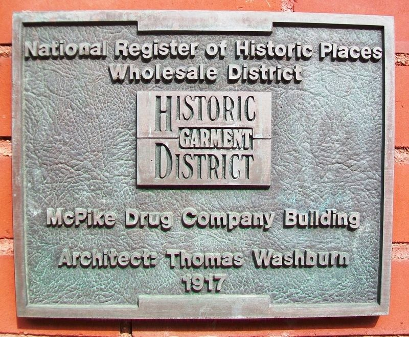 McPike Drug Company Building Marker image. Click for full size.
