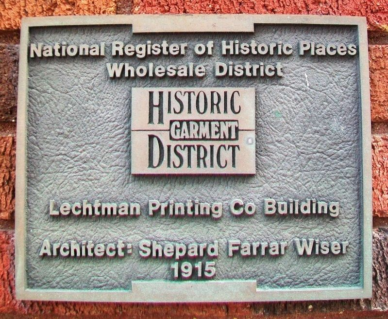 Lechtman Printing Co Bldg Marker image. Click for full size.