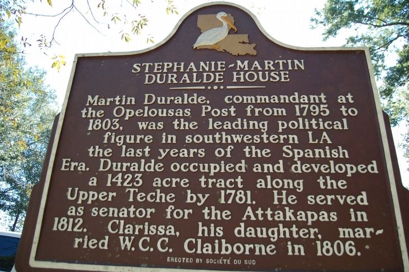 Stephanie-Martin Duralde House Marker image. Click for full size.