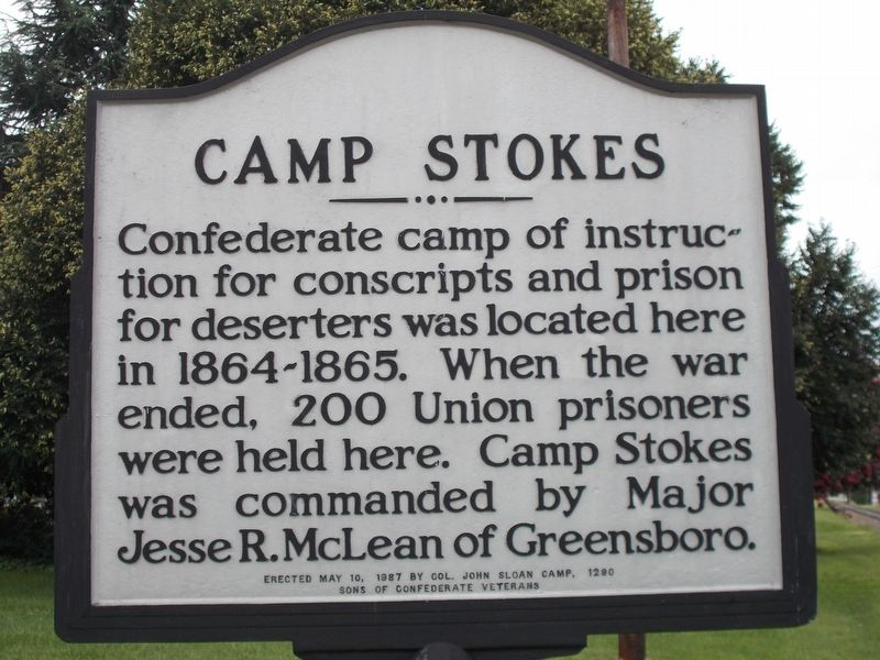 Camp Stokes Marker image. Click for full size.