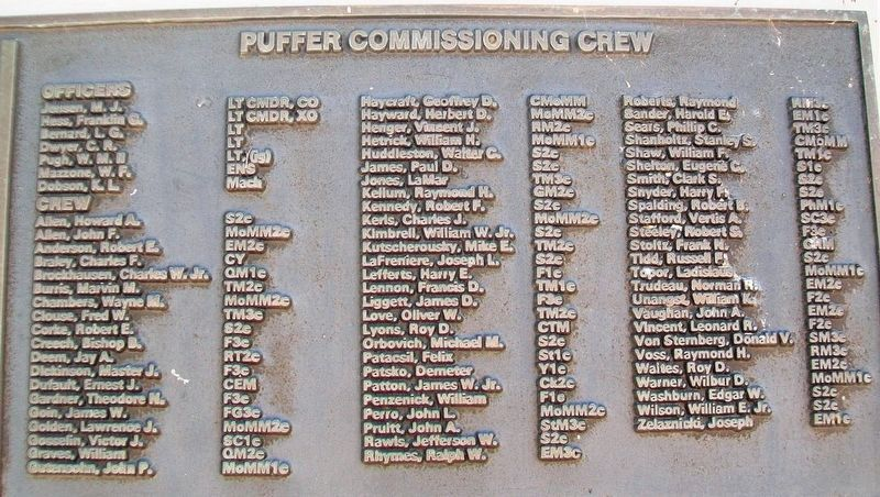 U.S.S. Puffer (SS 268) Crew image. Click for full size.