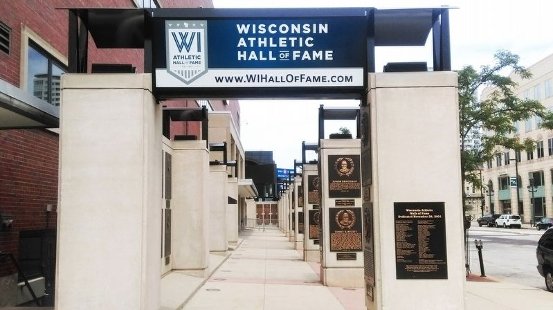 Wisconsin Athletic Hall of Fame image. Click for full size.