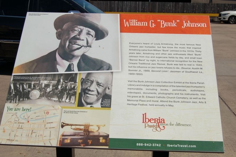 "William G. ""Bunk"" Johnson Marker image. Click for full size."