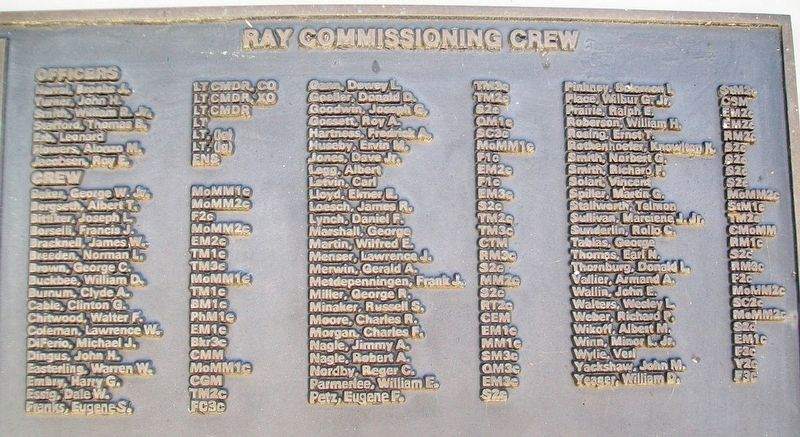 U.S.S. Ray (SS 271) Crew image. Click for full size.