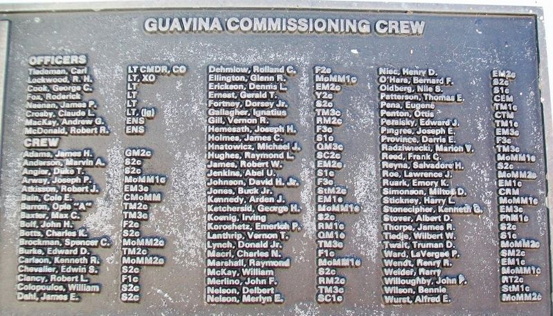 U.S.S. Guavina (SS 362) Crew image. Click for full size.