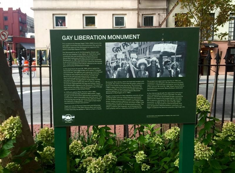 Gay Liberation Monument Marker image. Click for full size.