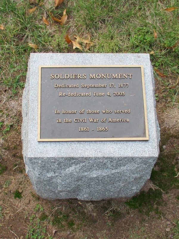 Plaque in front of the Monument image. Click for full size.