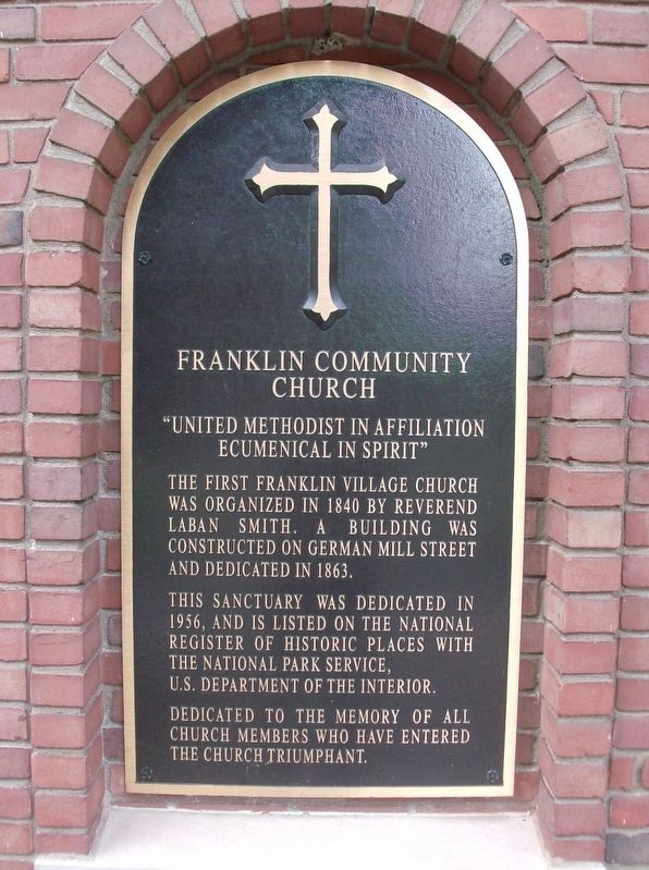 Franklin Community Church Marker image. Click for full size.
