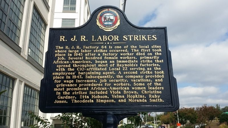 R.J.R. Labor Strikes Marker image. Click for full size.