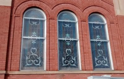 Clare Congregational Church Windows image. Click for full size.