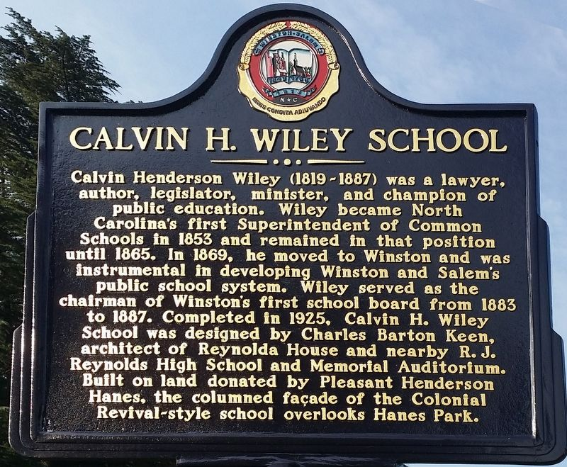 Calvin H. Wiley School Marker image. Click for full size.