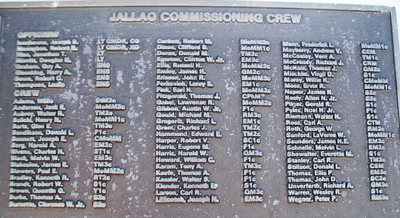 U.S.S. Jallao (SS 368) Crew image. Click for full size.
