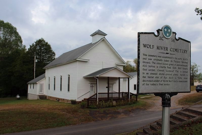 Wolf River Methodist Church and Cemetery Marker image. Click for full size.