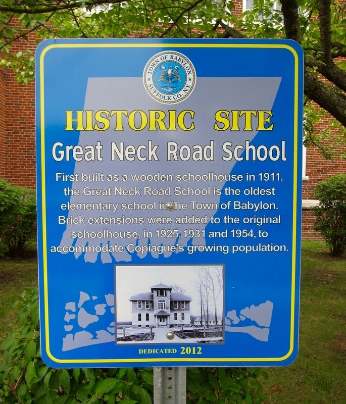 Great Neck Road School Marker image. Click for full size.