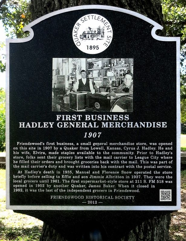 First Business Marker image. Click for full size.