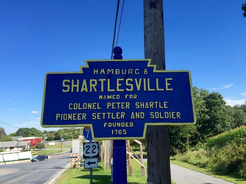 Shartlesville Marker image. Click for full size.