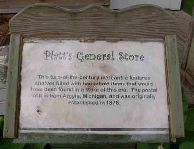 Platt's General Store Marker image. Click for full size.