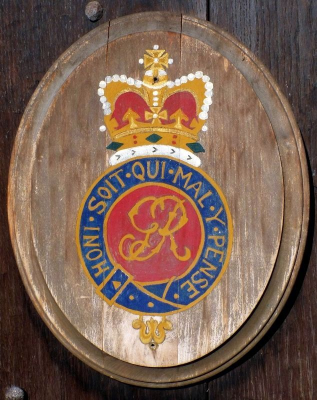 Royal Seal<br>on the door of the Blockhouse image. Click for full size.