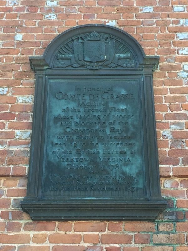Additional marker at the Custom House to Comte de Grasse image. Click for full size.