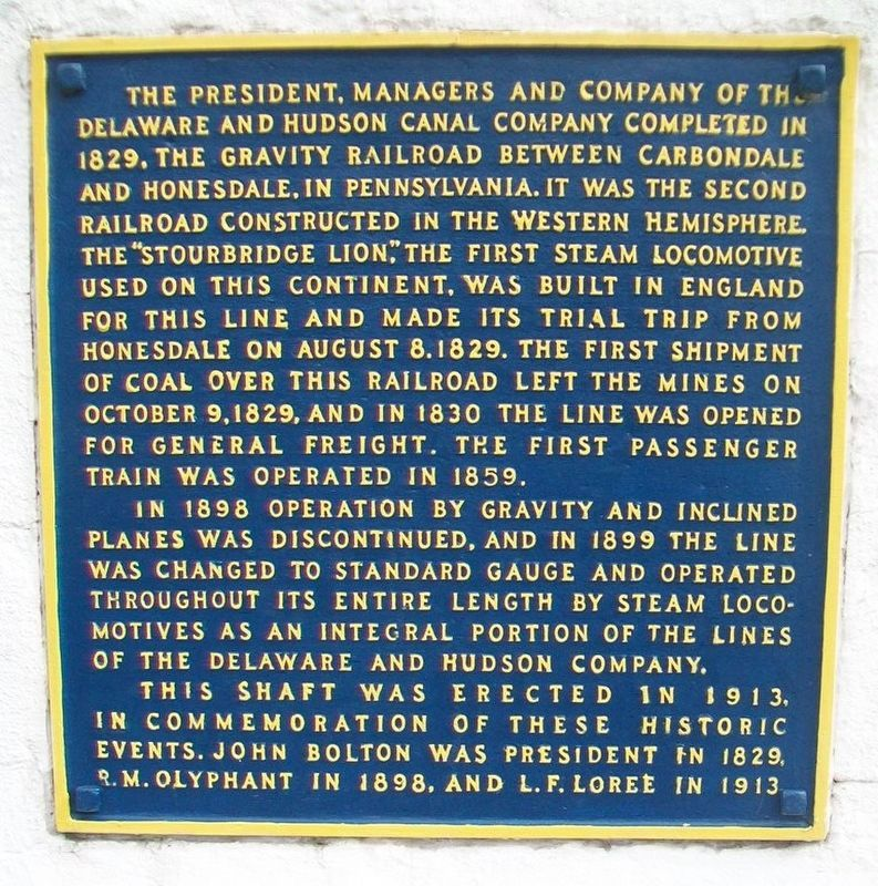 Gravity Railroad Monument Marker image. Click for full size.