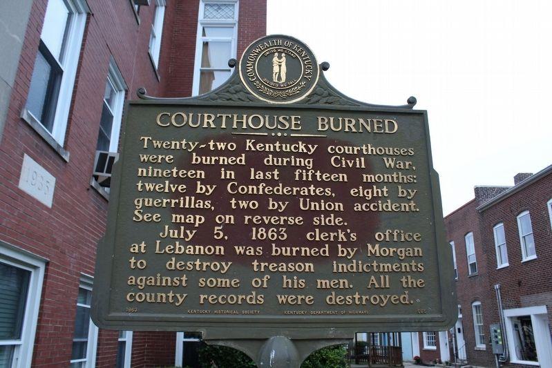 Courthouse Burned Historical Marker