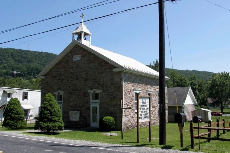 Wesley Methodist Evangelican Chapel in Fountain Dale, possible site of June 28 skirmish. image. Click for full size.